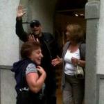 Eros Ramazzotti shopping in Bergamo