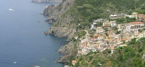 Photo of the coast line in Cinque Terre Italy