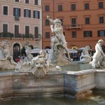 Photo of the fountain in Piazza Navona Rome