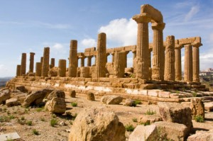 The Temple of Juno in Agrigento, Sicily