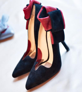 Image of Navy blue & Red high heel Italian shoes