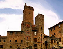 Typical village in Tuscany