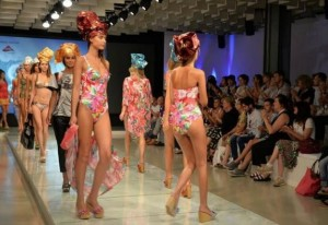 Models walking on the catwalk showcasing  the summer 2016 collections