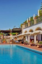 Image of the outdoor swimming pool at San Domenico Palace Hotel Taormina