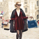 Image of women shopping in Milan with many bags